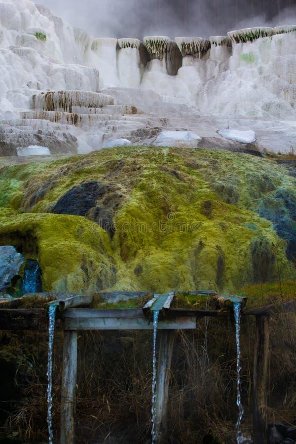 Egerszalok, Hungaryan Termiczny Bad Wapnia wzgórze przy Egerszalok obrazy stock