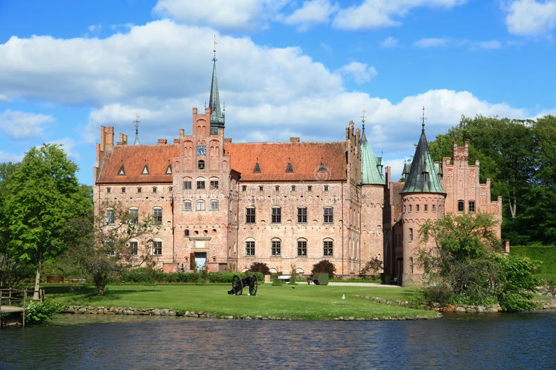 Egeskov Castle, Denmark royalty free stock photos