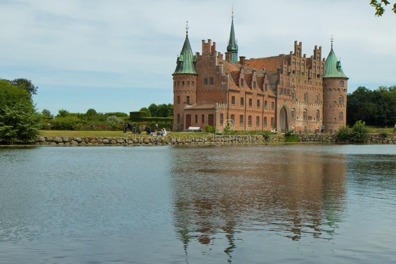Egeskovgroef in Denemarken royalty-vrije stock foto