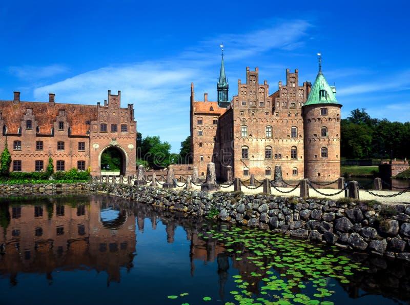 Egeskovkasteel, Denemarken stock fotografie