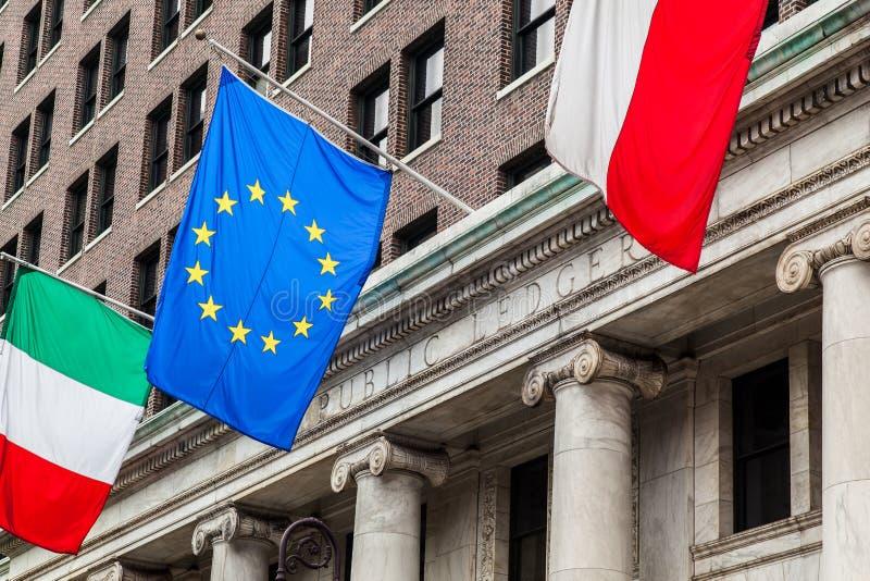 EGflagga Philadelphia royaltyfri foto