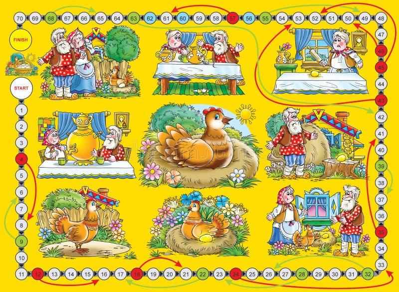 Eggâ do âGold do jogo de mesa ilustração do vetor