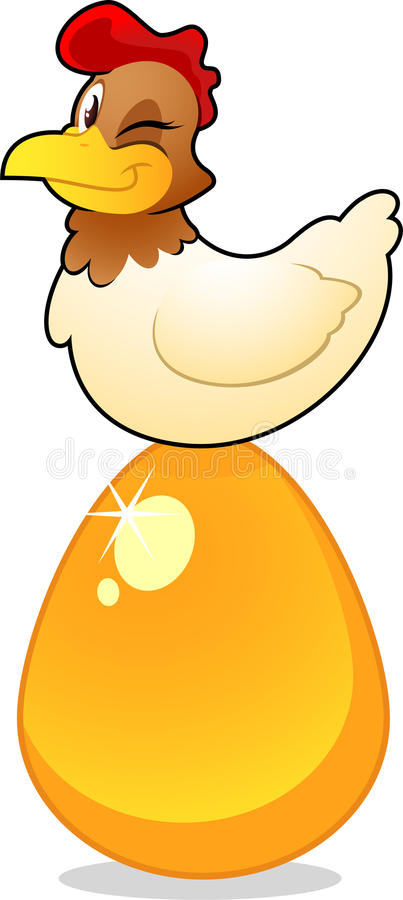 egg золотистое иллюстрация штока
