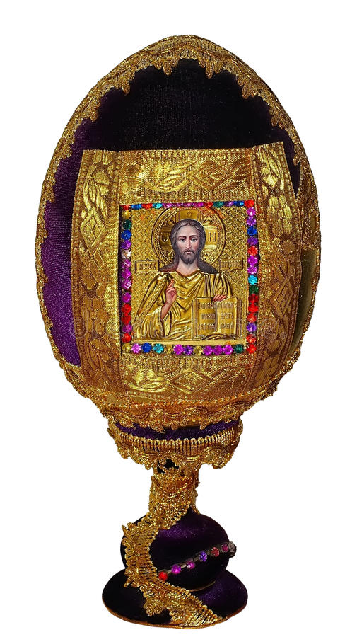 Egg на стойке с значком лорда изолированного на белой предпосылке стоковые фотографии rf