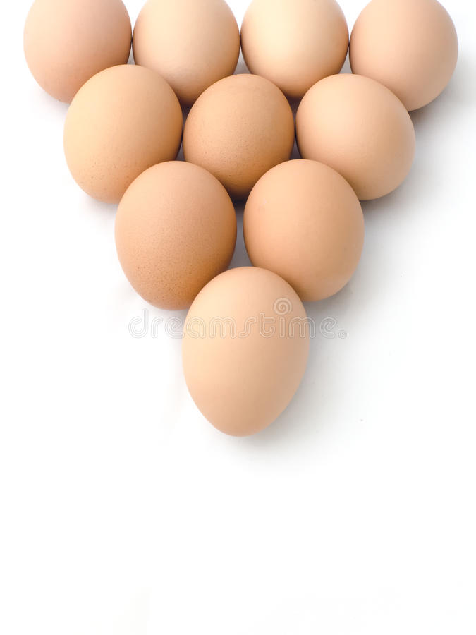 Download Egg arranged in triangle stock photo. Image of food, white - 22128320