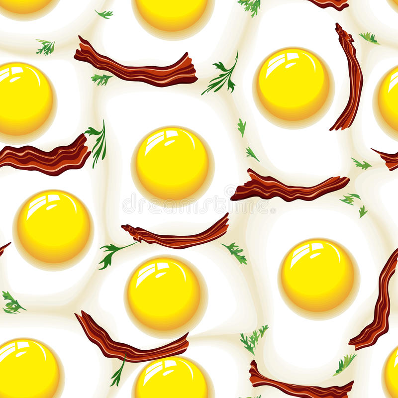Egg and bacon royalty free illustration