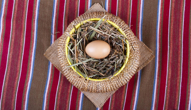 Egg In Basket Traditional Still-life Royalty Free Stock Photo