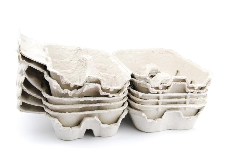 Egg boxes royalty free stock images