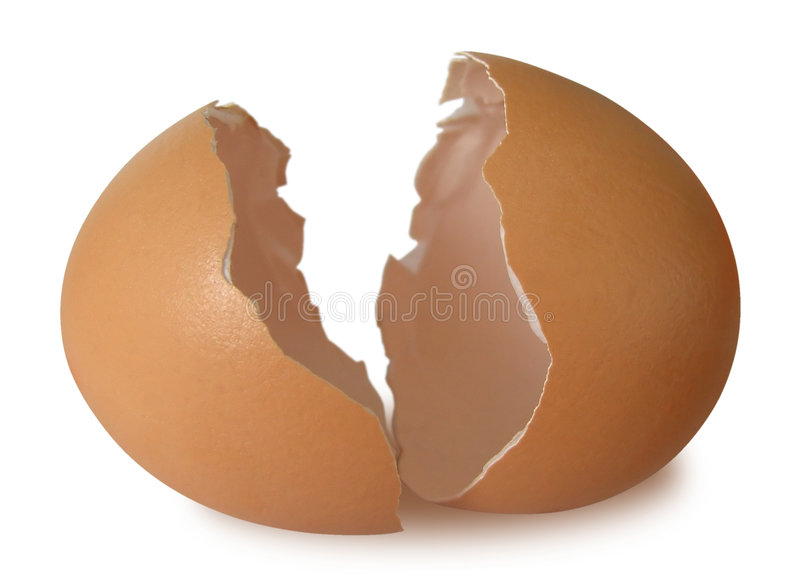 Egg-broken royalty free stock photo