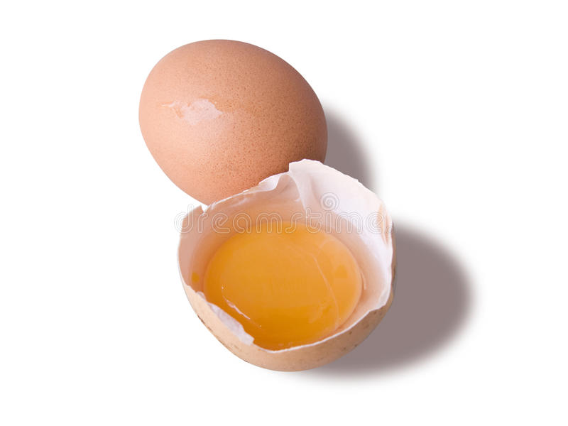 Egg and a broken half royalty free stock image