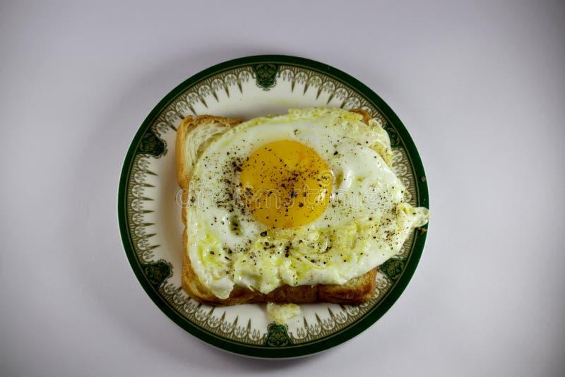 Egg Bullseye. Morning Breakfast,Toasted Bread and Egg Bulls eye.I Love it royalty free stock images