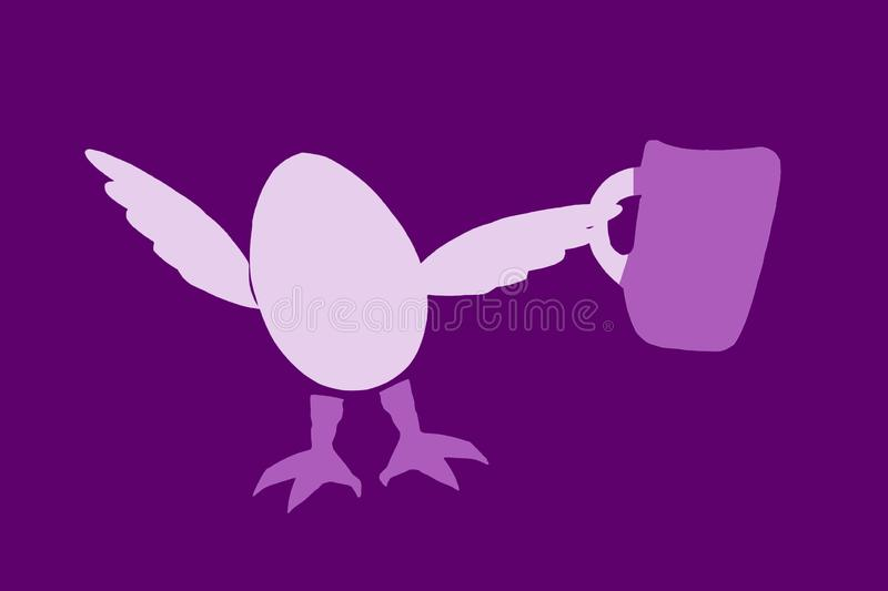 egg character with a drink stock photos