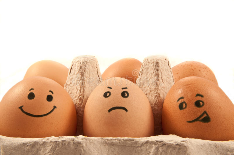 Egg characters stock photos