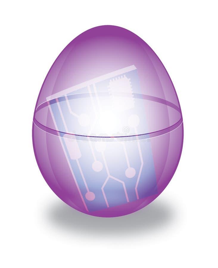 Download Egg Circuit stock illustration. Illustration of gift, chips - 473327