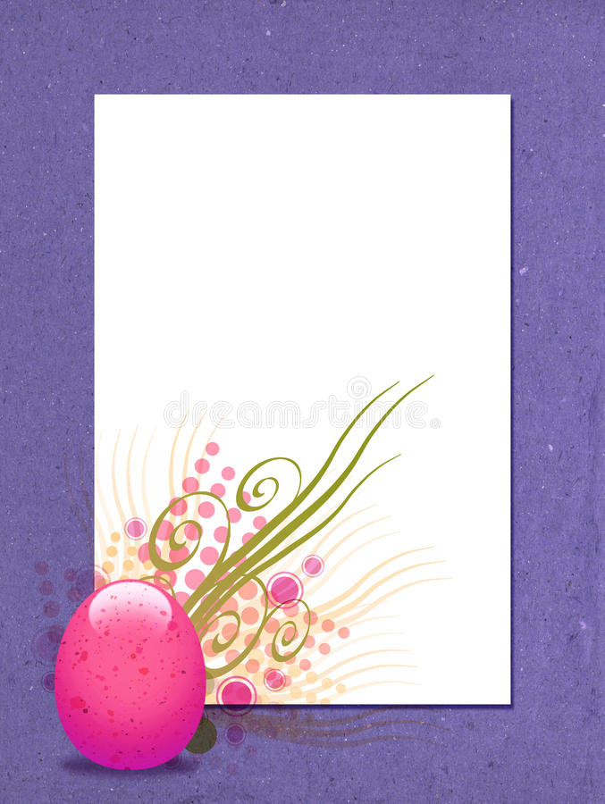 Egg Collage. A colorful Easter egg collage royalty free illustration
