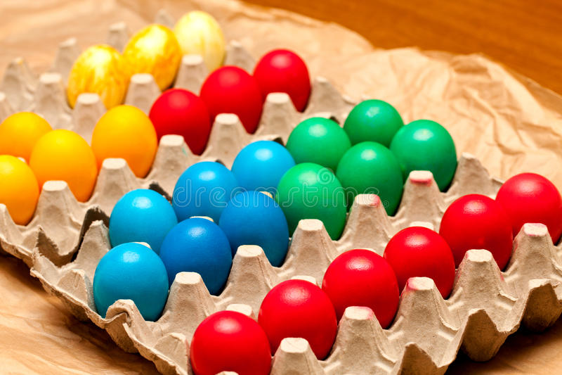 Download Egg Crate With Easter Eggs Stock Image - Image: 24320961