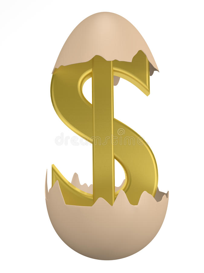 Egg and Dollar vector illustration