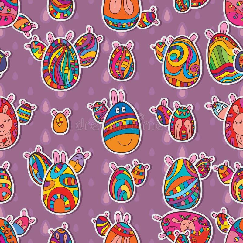 Egg Easter symmetry seamless pattern royalty free illustration