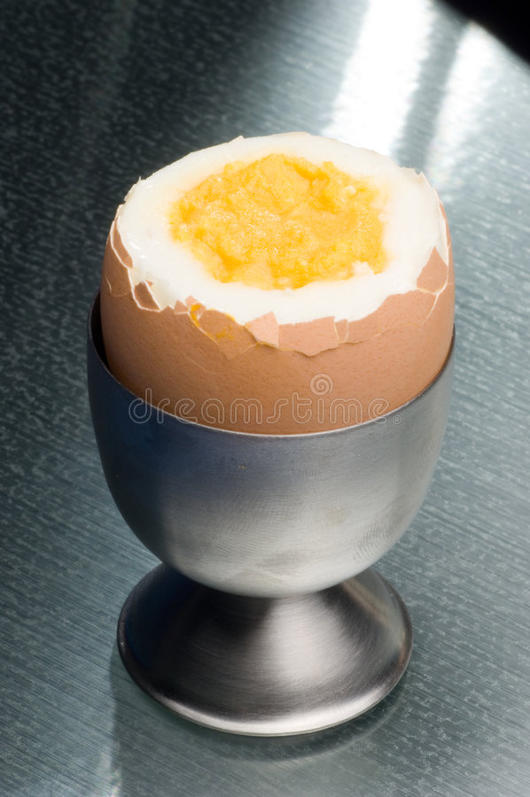 Egg and egg cup stock image
