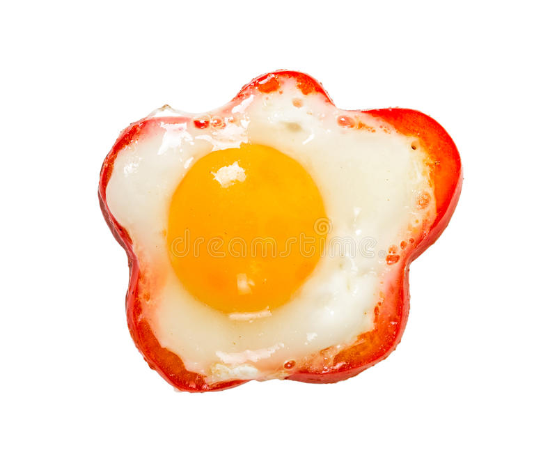 Egg en poivron doux rouge d'isolement sur le fond blanc photo libre de droits