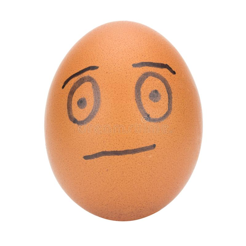 egg face man concept isolated on white background stock photo