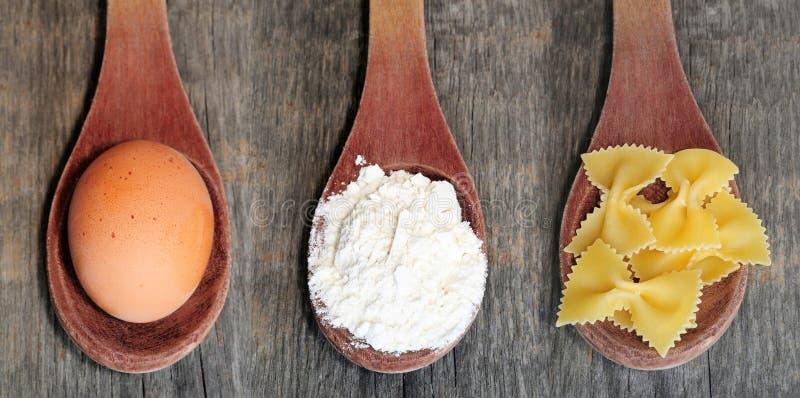 Egg+Flour=Pasta royalty free stock images