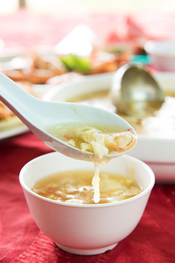 Egg flower soup royalty free stock image