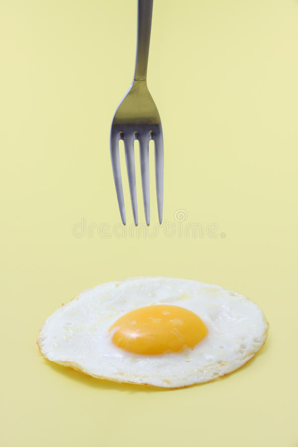 Download Egg And Fork Isolated Royalty Free Stock Photos - Image: 14766428
