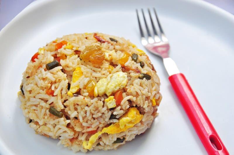 Egg fried rice, royalty free stock photo