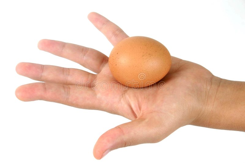 Egg hand royalty free stock photos