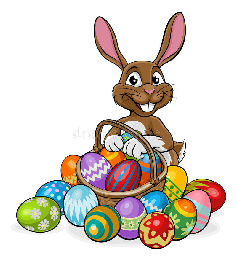 Egg Hunt Easter Bunny Stock Vector Illustration Of Card