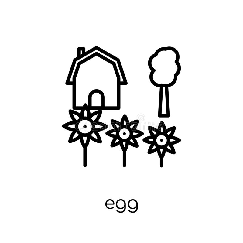 Egg icon from Agriculture, Farming and Gardening collection. vector illustration