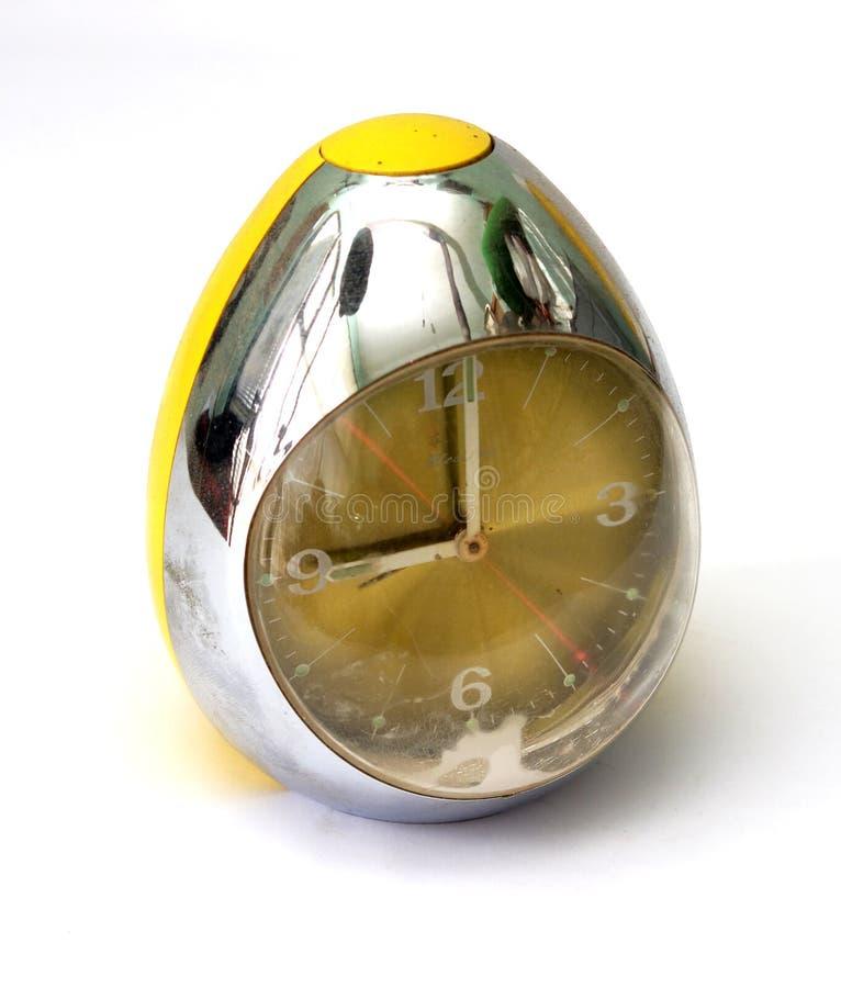 Egg l'horloge de table de conception avec l'horloge de ` de neuf o images stock