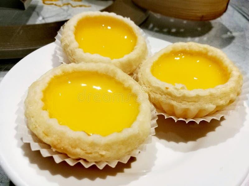 Egg la torta fotografia stock