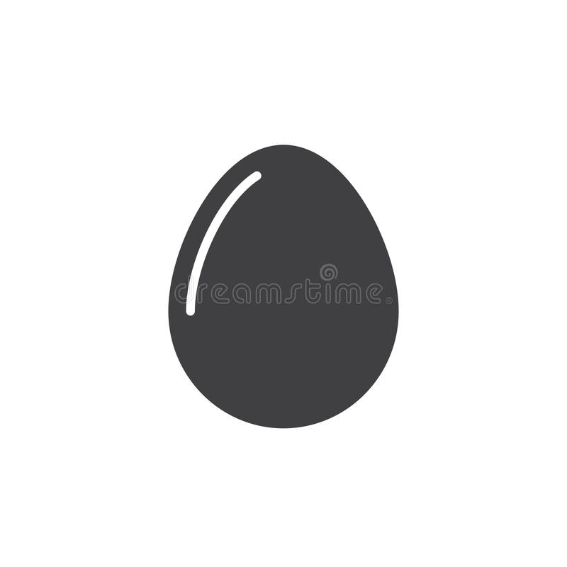 Egg le vecteur d'icône, signe plat rempli, pictogramme solide d'isolement sur le blanc illustration stock
