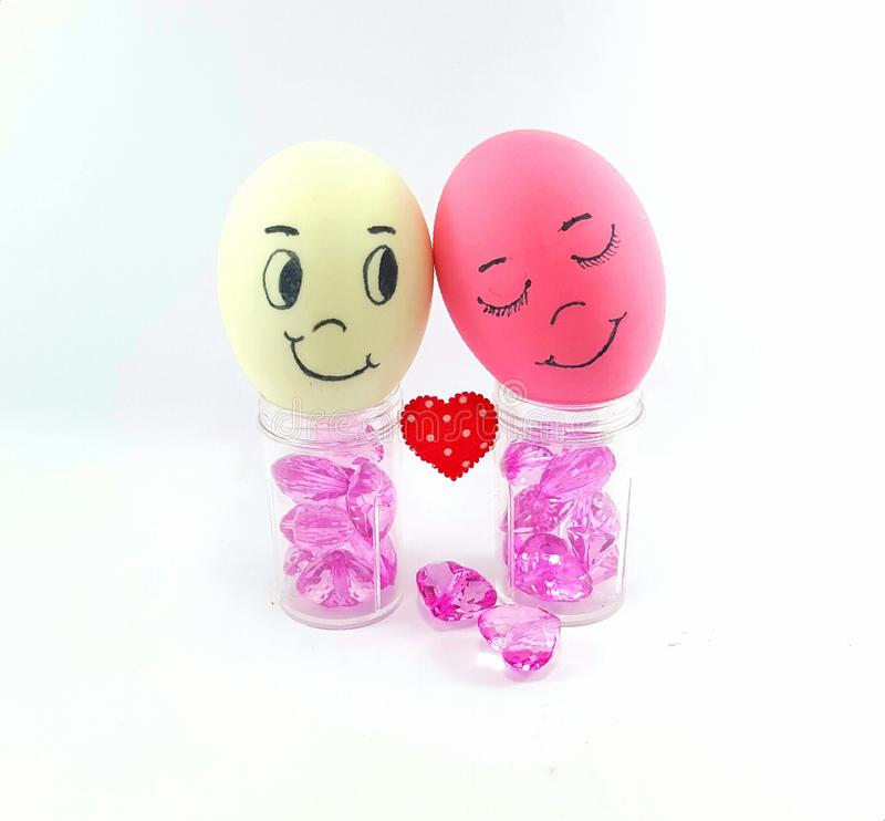 Egg of love stock photography
