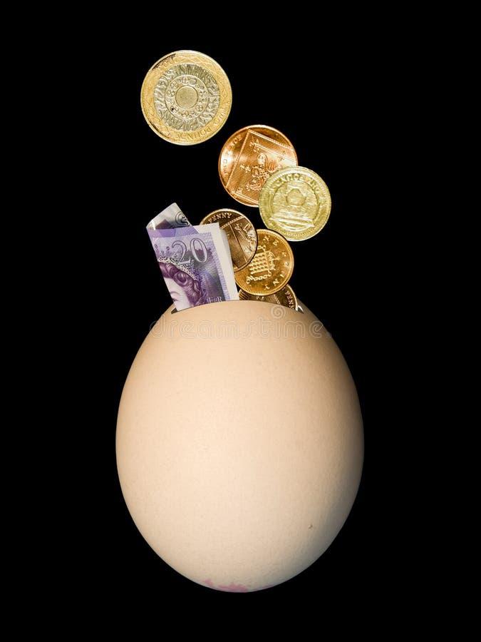 Egg money box stock photos