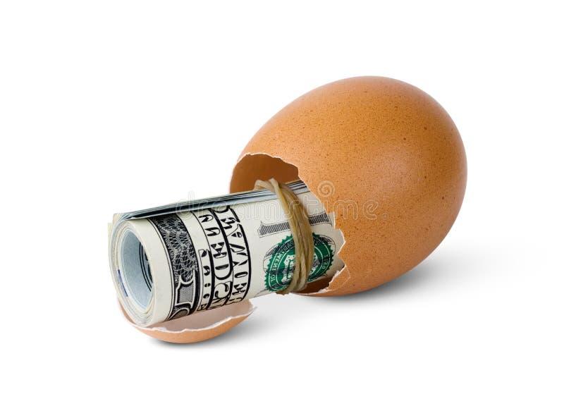 Egg with money stock photos