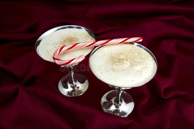Download Egg Nog and Candy Cane stock image. Image of alcohol - 28225385