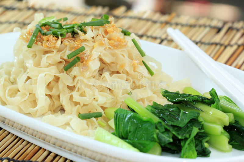 Egg Noodle. Chinese Style the vegetable with Egg Noodle stock photos