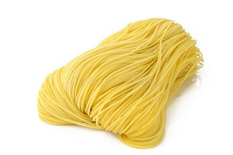 Egg noodles stock photos