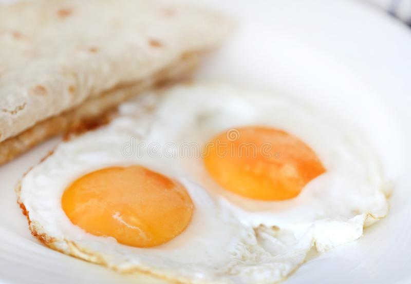 Egg omelet with tortilla bread stock image