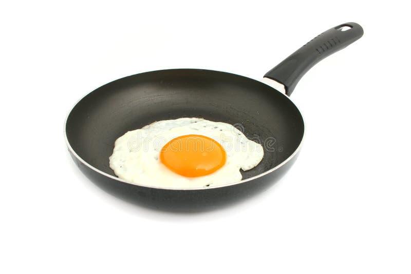 Egg in pan stock photo