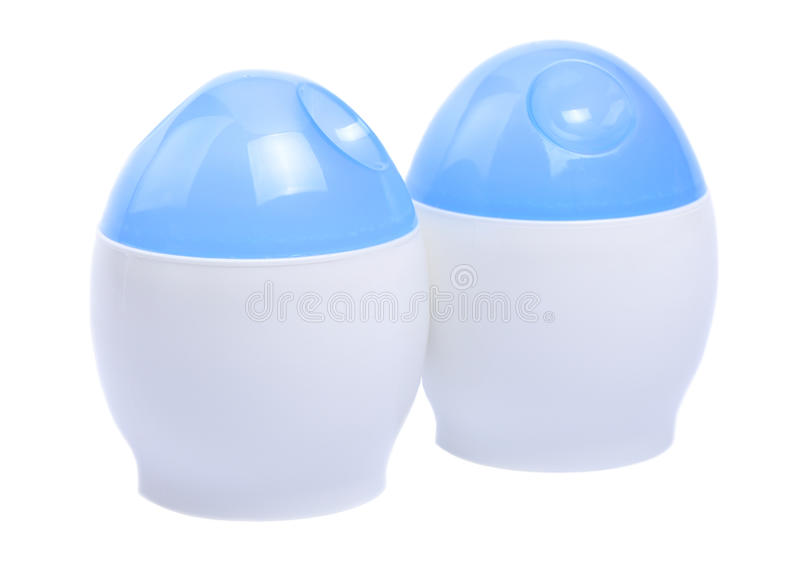 Egg plastic cooker-shapes stock images