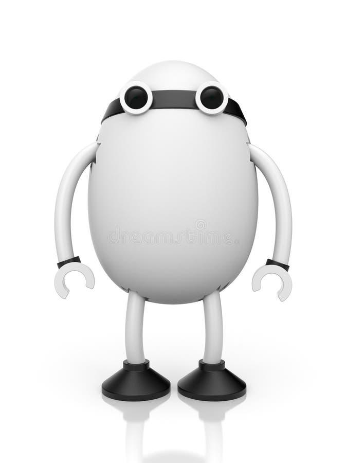 Egg robot royalty free illustration