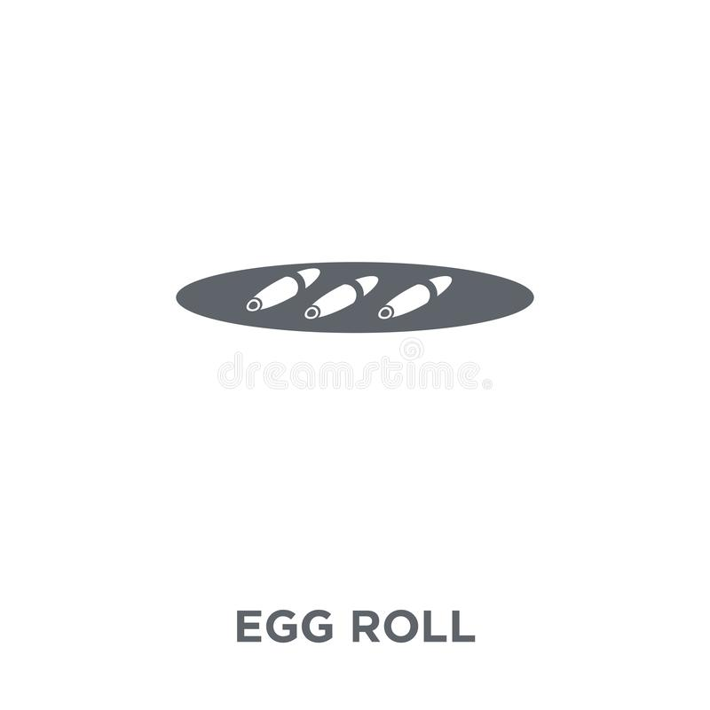 Egg Roll icon from Chinese Food collection. royalty free illustration