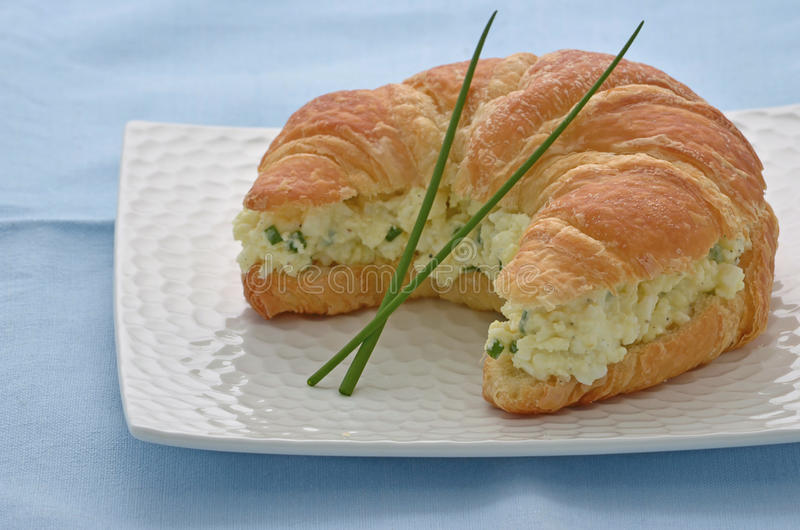 Egg Salad Croissant Stock Photo