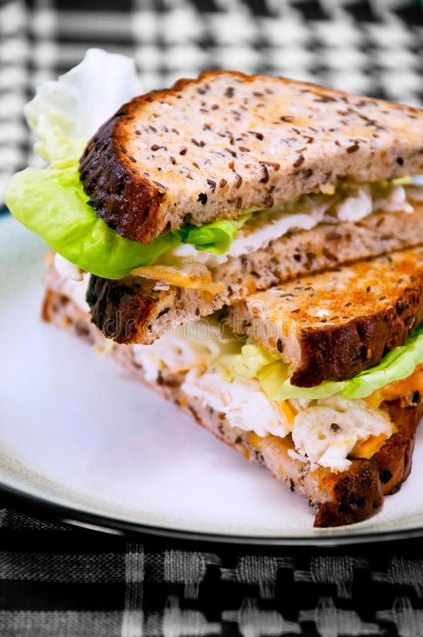 Free Egg Sandwich On A Plate 02 Stock Photo - 22030400