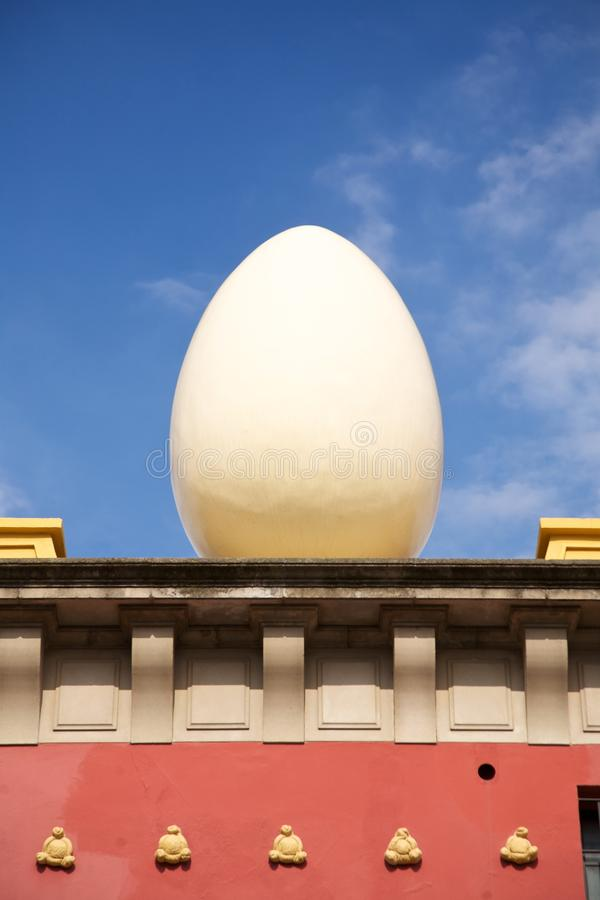 Egg Sculpture At Figueres Royalty Free Stock Image
