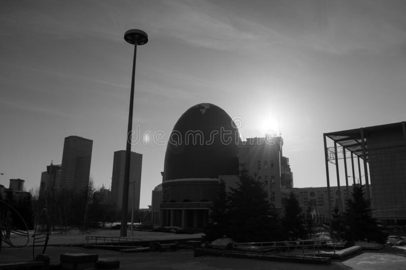 Egg Shaped Building in Astana, Kazakhstan.  royalty free stock image